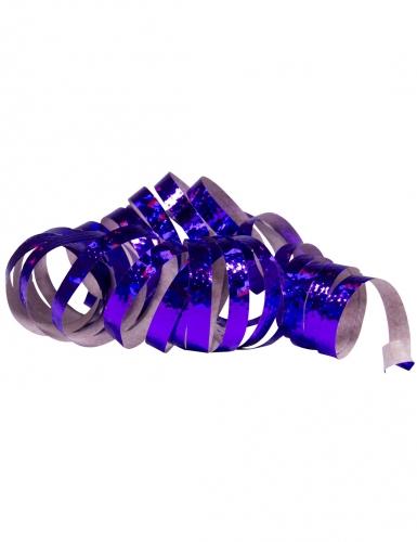 2 Rotoli di stelle filanti viola olografico 4m
