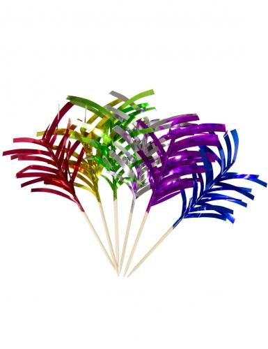 10 stecchini aperitivo palme multicolor
