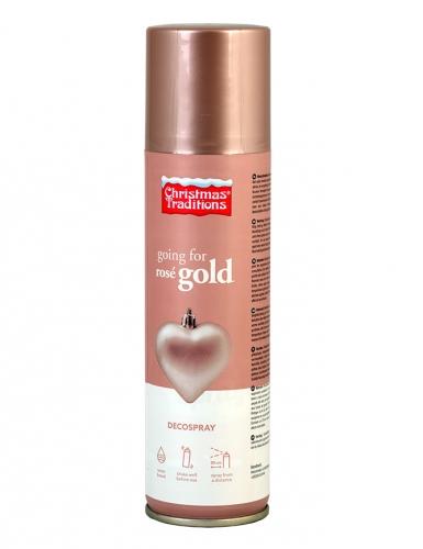 Spray decorativo color oro rosa