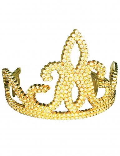 Diadema con strass color oro bambina