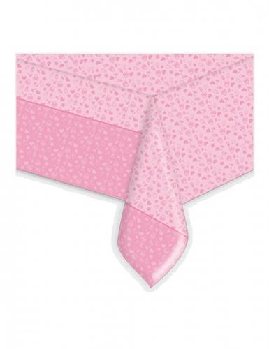 Tovaglia in plastica il mio battesimo rosa