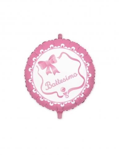 Palloncino alluminio il mio battesimo rosa