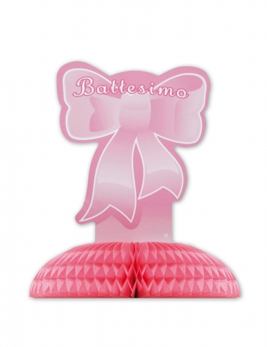 Centrotavola di carta il mio battesimo rosa