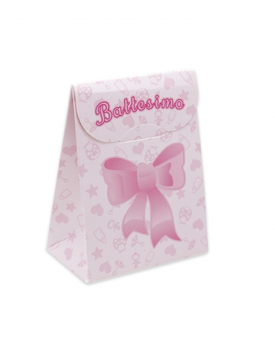 25 scatole in cartone il mio battesimo rosa
