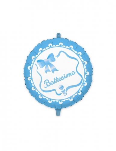 Palloncino alluminio il mio battesimo blu