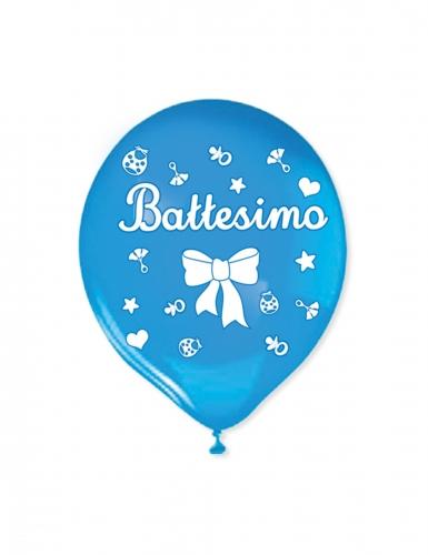 20 palloncini in lattice il mio battesimo blu