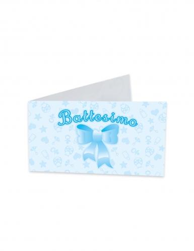 25 etichette in catone il mio battesimo blu