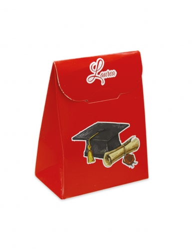 25 scatoline in cartone rosso laurea