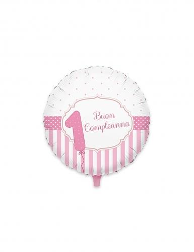 Palloncino alluminio 1 Buon compleanno rosa