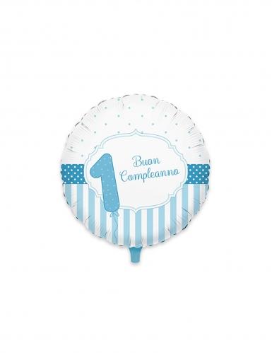 Palloncino alluminio 1 Buon compleanno blu