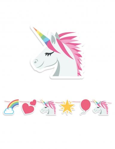 Ghirlanda in cartone tema unicorno