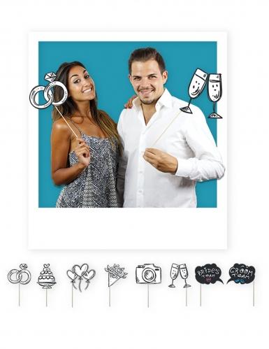 Kit photobooth 8 accessori sposi