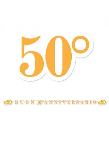Ghirlanda oro 50° anniversario matrimonio