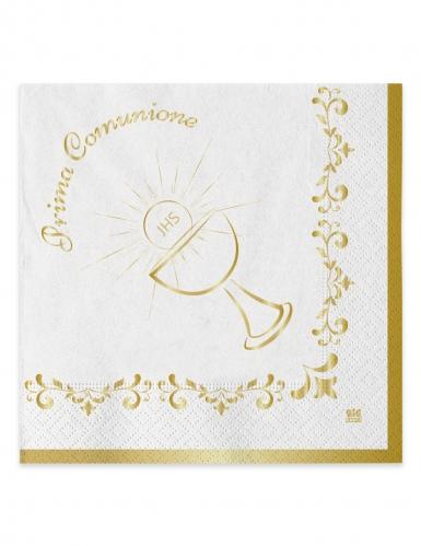 20 tovaglioli di carta Comunione oro