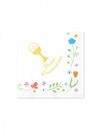 20 mini tovaglioli di carta Comunione colorata