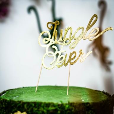 Decorazione per torte Jungle Fever color oro-1