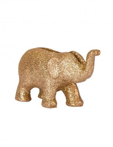 4 segnaposto in resina elefanti oro e brillantini