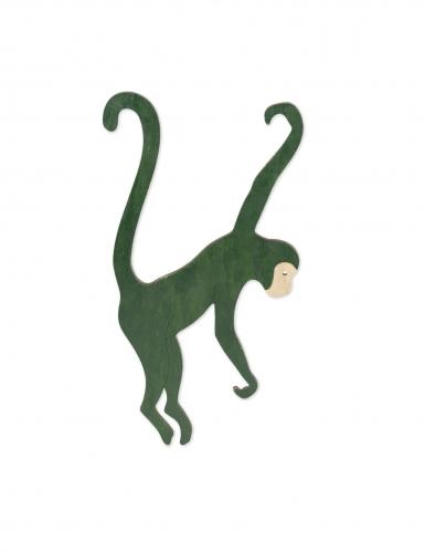 Scimmia in legno verde da appendere-1