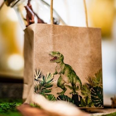 4 Buste regalo dinosauro kraft-1