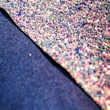Mini runner da tavola brillantini e paillettes iridescenti-1