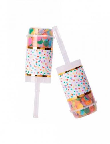 2 mini lancia coriandoli multicolor