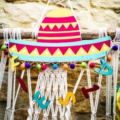 Sospensione cappello messicano multicolor-1