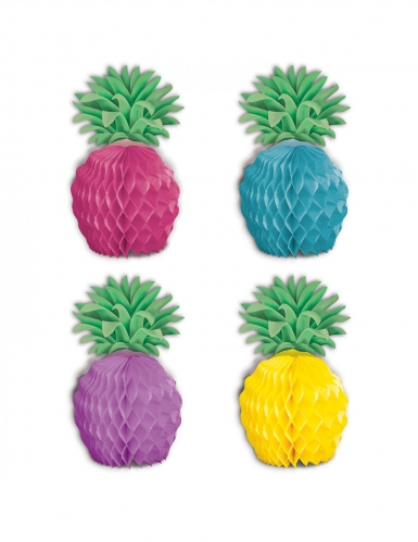 8 mini centrotavola in carta ananas multicolor