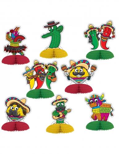 8 mini centrotavola di carta fiesta messicana