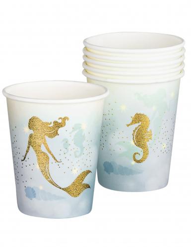 6 bicchieri in cartone sirena laguna