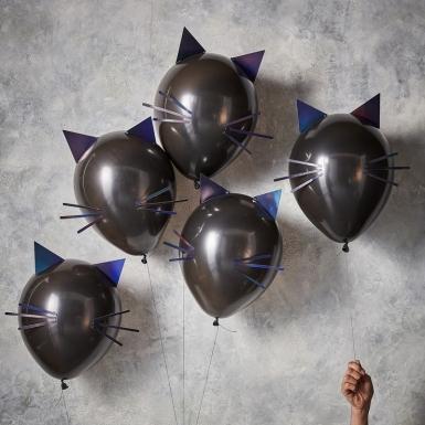 5 palloncini in lattice gatti neri-1