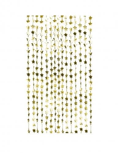 Tenda di frange con stelle oro