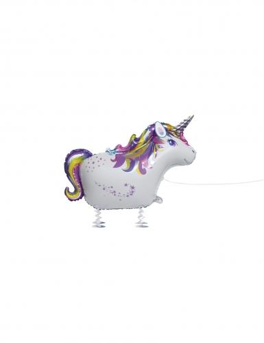 Palloncino alluminio unicorno che cammina