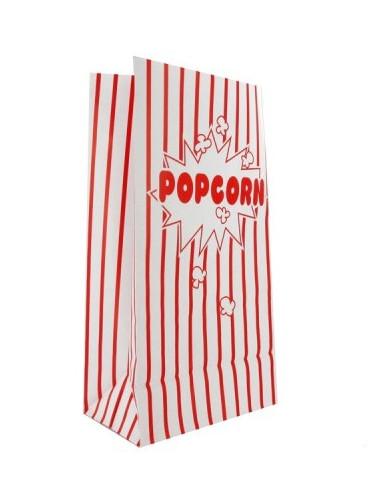 10 sacchetti in carta popcorn righe bianche e rosse