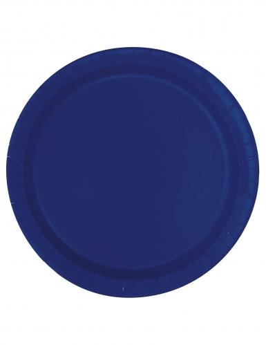 20 piattini in cartone blu scuro 18 cm