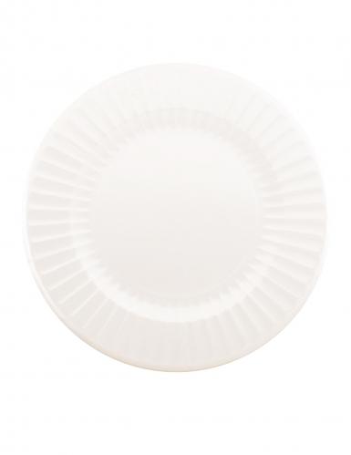 6 maxi piatti in cartone bianchi 33 cm
