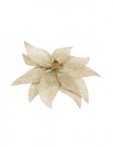 Stella di Natale in tela con perla 20 cm