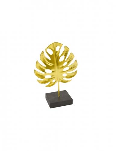 Foglia tropicale oro in metallo con supporto