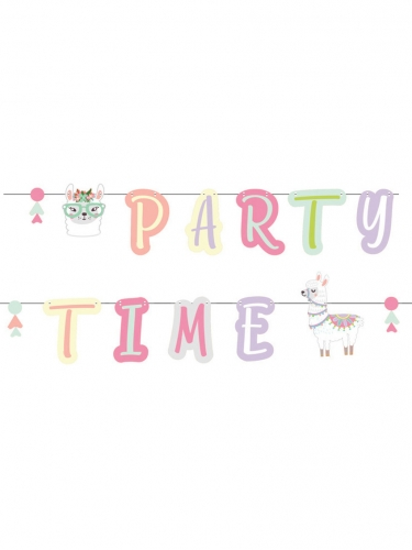Ghirlanda Party Time lama pastello