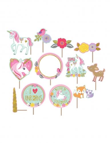 Kit photobooth e decorazione per parete unicorno magico-1