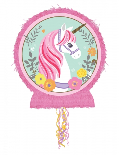 Pignatta rotonda unicorno magico