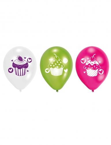 6 palloncini in lattice cupcakes multicolor