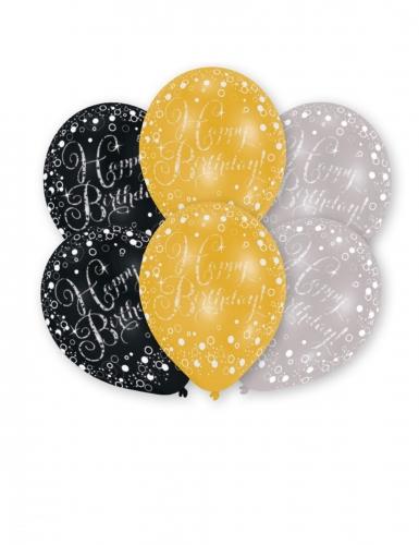 6 Palloncini Happy Birthday Scintillante