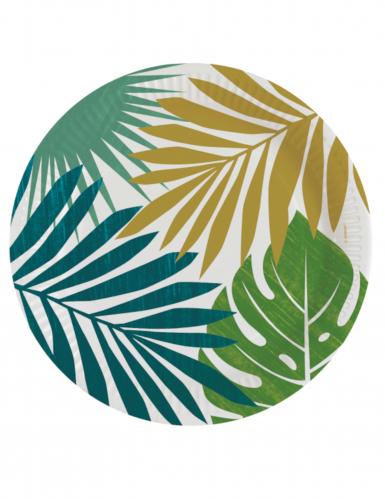 8 maxi piatti quadrati tropical chic 25 cm