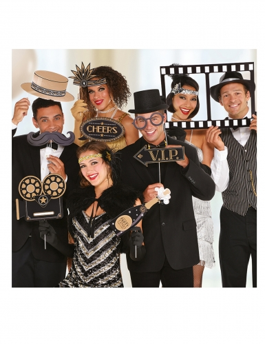 Kit photobooth 12 accessori Hollywood