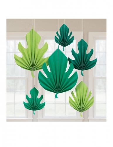 6 sospensioni in cartone foglie di palma