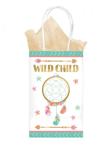 8 sacchetti di carta boho floreale