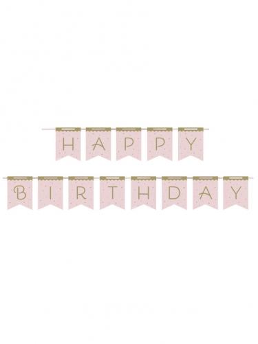 Ghirlanda in cartone Happy Birthday cigno reale