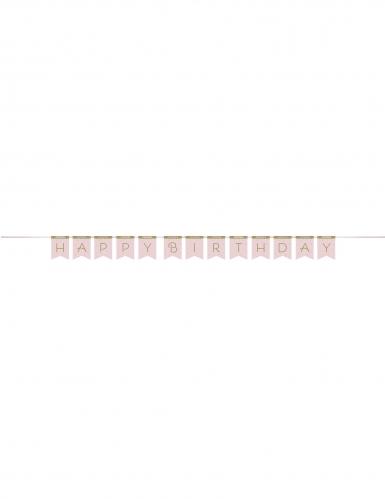 Ghirlanda in cartone Happy Birthday cigno reale-1
