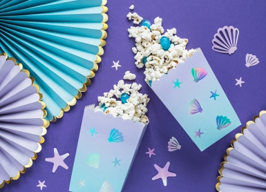 6 scatole per pop corn in cartone narvalo blu-1