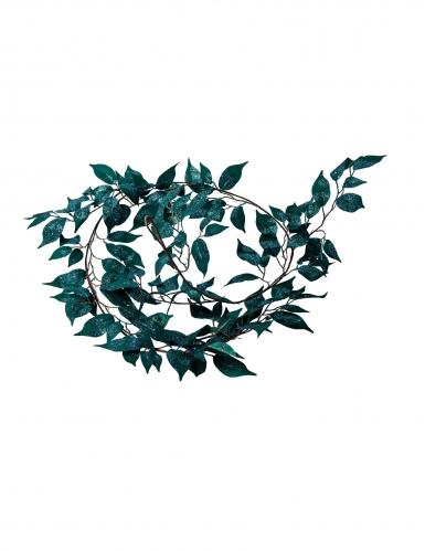 Ghirlande di foglie verdi in tessuto e paillettes